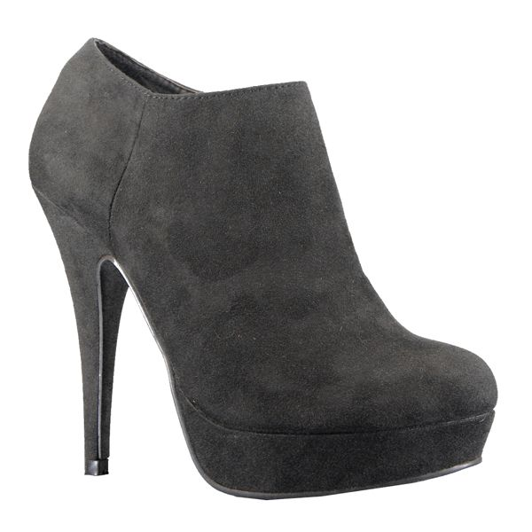 Zapato botín negro plataforma en ante- Marypaz