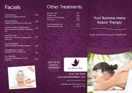 Massage A Folded Leaflets  Printing  Print Buying Direct