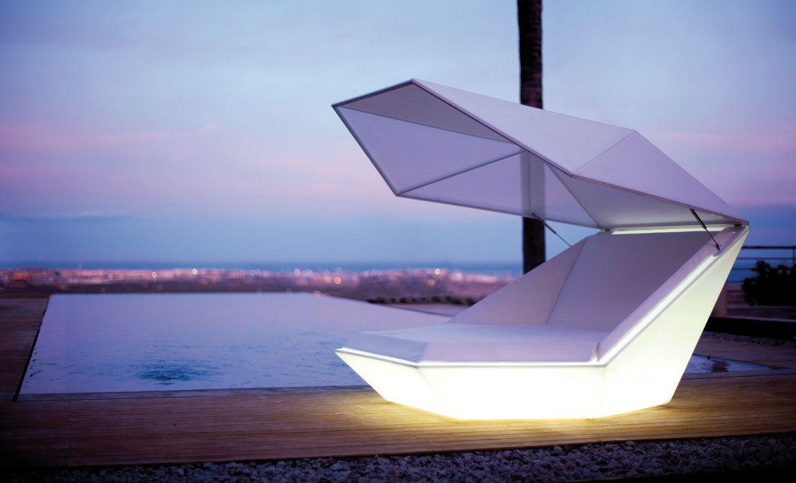 Design sonneninsel  Vondom #Sonneninsel FAZ DAYBED LED RGBW | Ab raus ins Freie ...