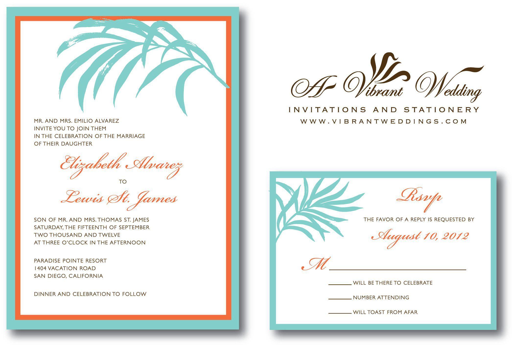 beach wedding invitation sample (With images) Wedding