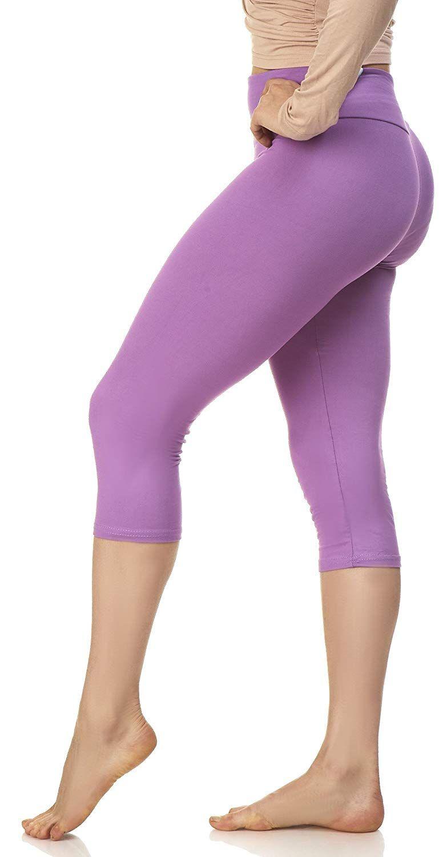 814af7bad4f4f LMB Womens Extra Soft Capri Leggings with High Yoga Waist 40+ Colors Plus  Size at