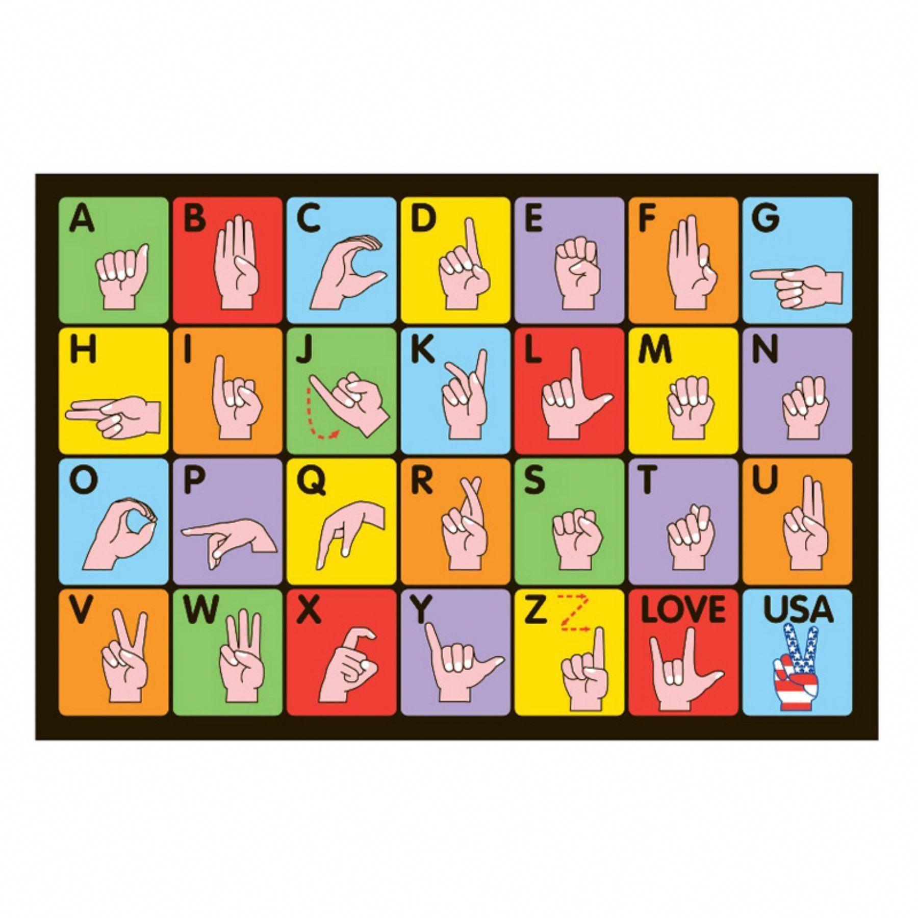 Fun Time Sign Language Rug Ft 129 1929 Hebrewverbs Sign Language For Kids Sign Language Baby Sign Language