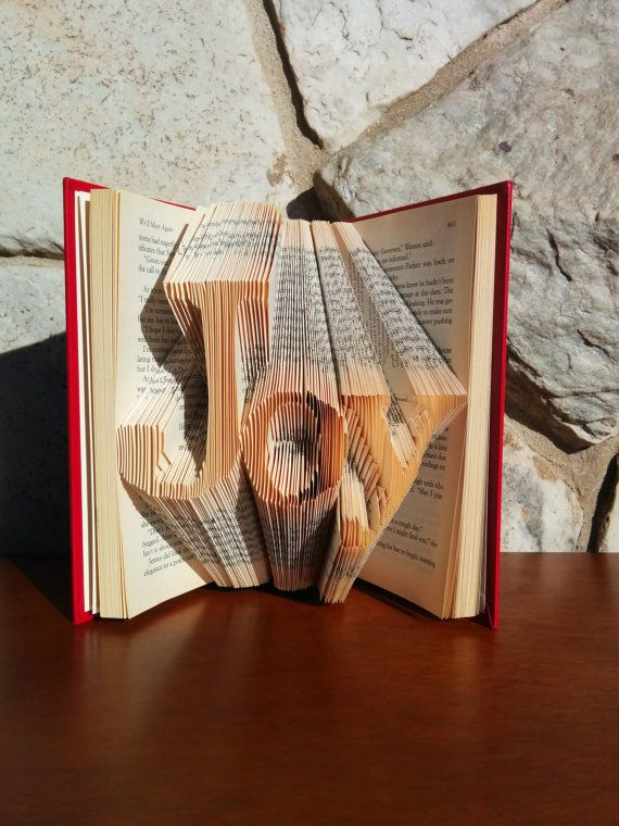 Awesome Christmas Gift Folded Word Book Art Joy