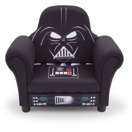 Delta Children Star Wars Deluxe Upholstered Chair, Darth Vader, Black