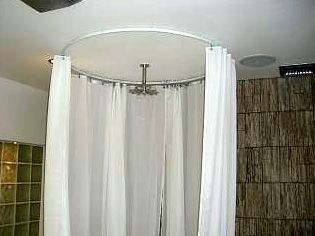 Circle Shower Curtain Rod White Ceiling Bendable