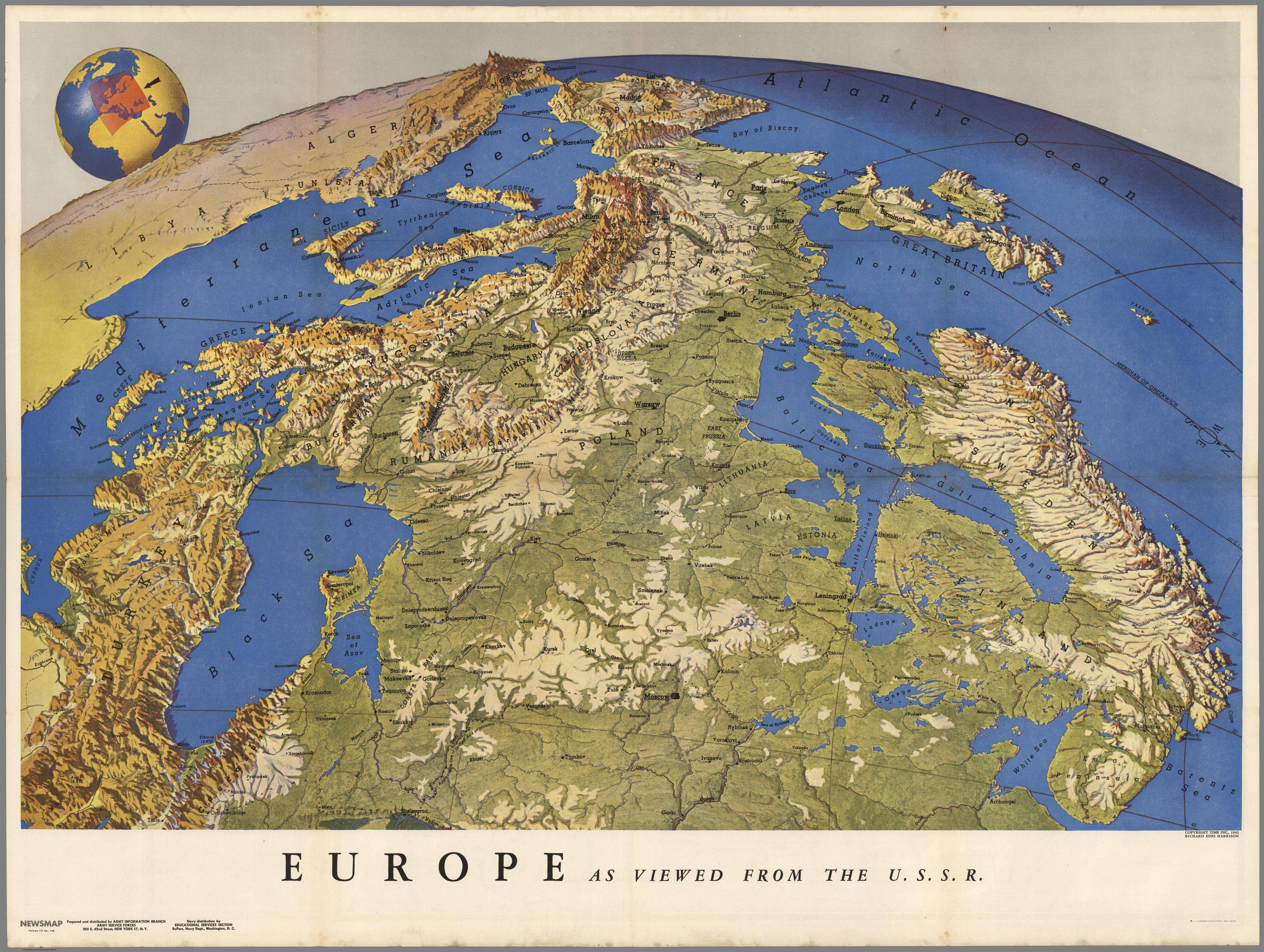 Europe Map 1944