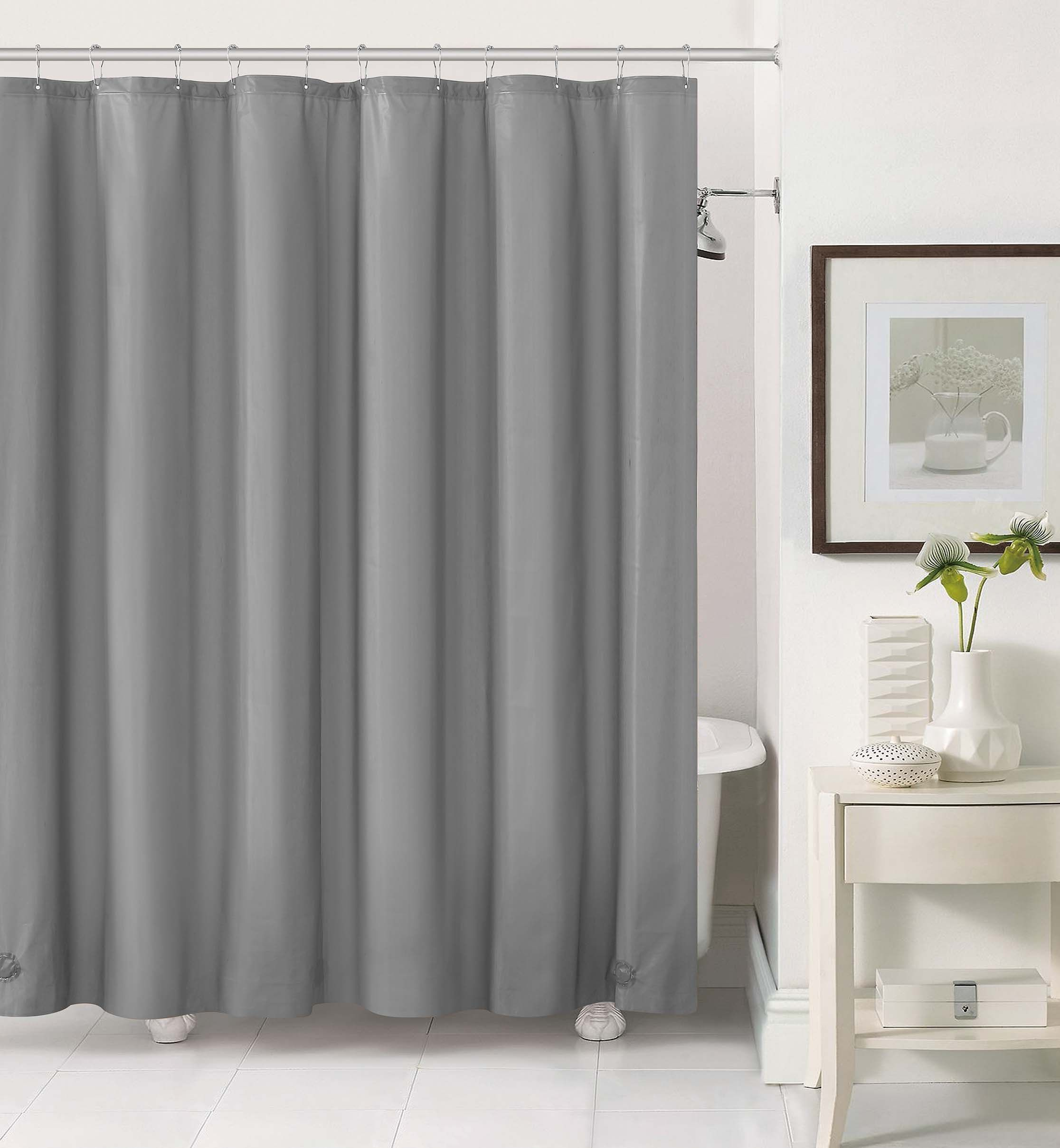 Royal Bath 2 In 1 Fabric Front Shower Curtain With Peva Non Toxic Liner Backing