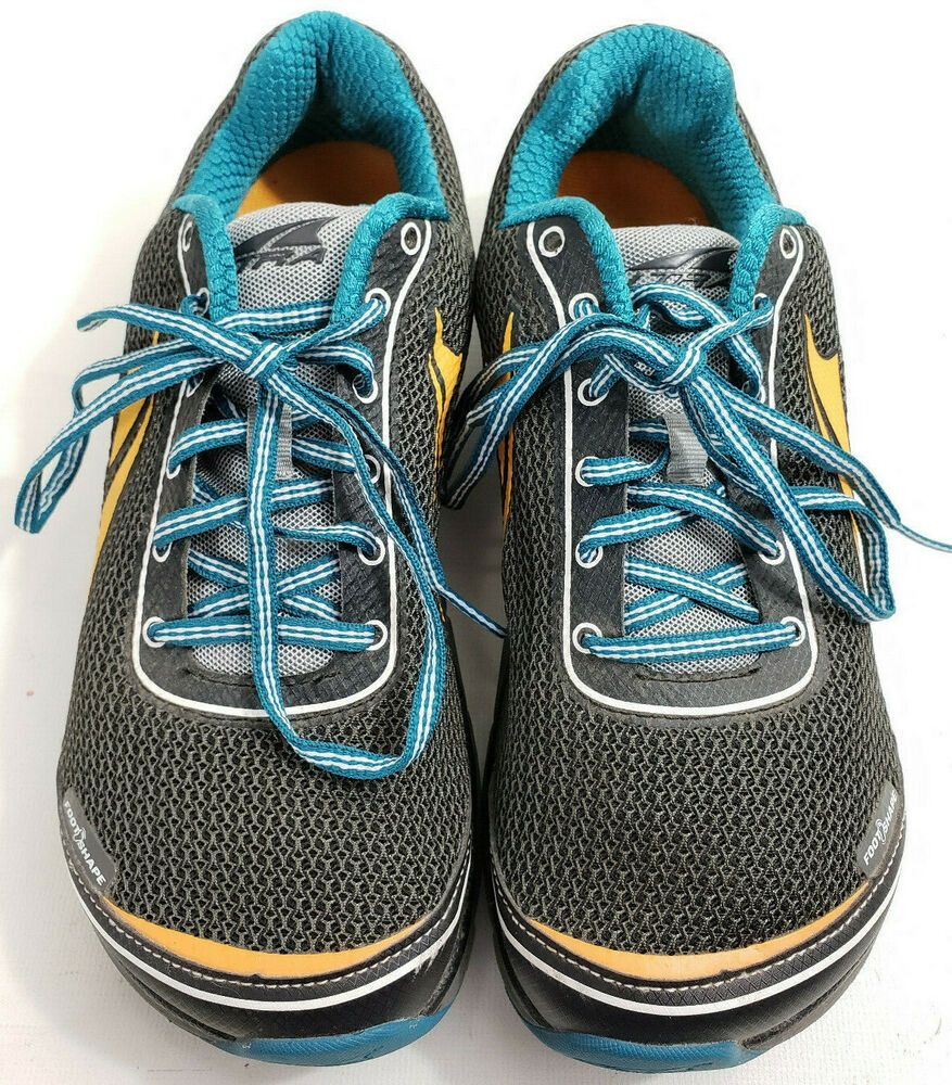 Altra Shoes Lone Peak 2 5 Zero Drop Trail Running Mens Size 8 Grey Blue Yellow Altra Running Running And Walking Shoes Altra Shoes Shoes