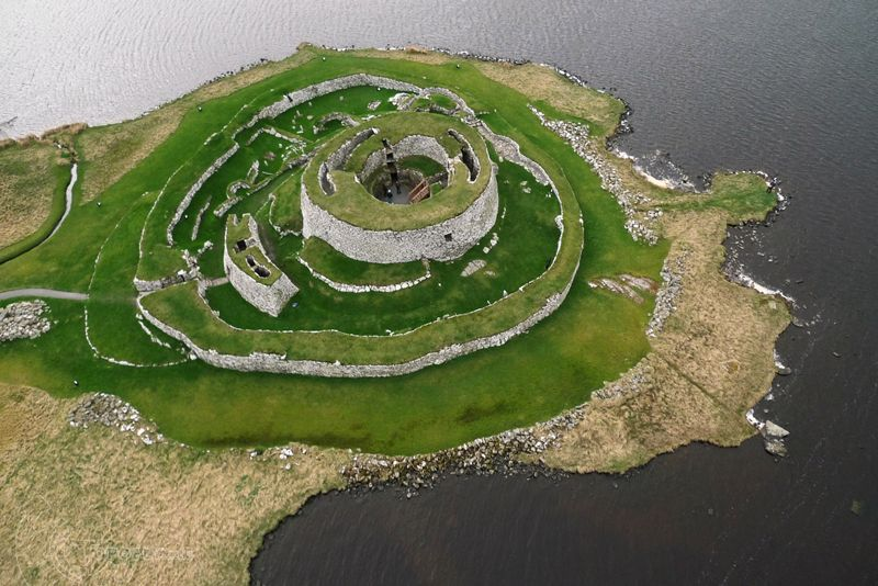 Clickimin Broch.  Lerwick, Shetland Islands.   Topofly.com Kite Aerial Photograph. #shetlandislands