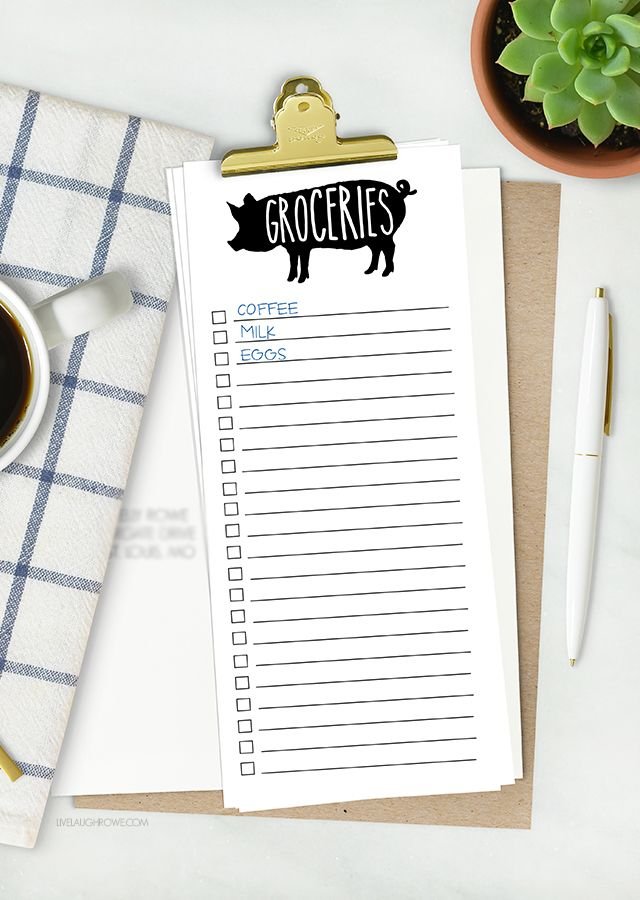 Sometimes lists are my only saving grace! This printable grocery ...
