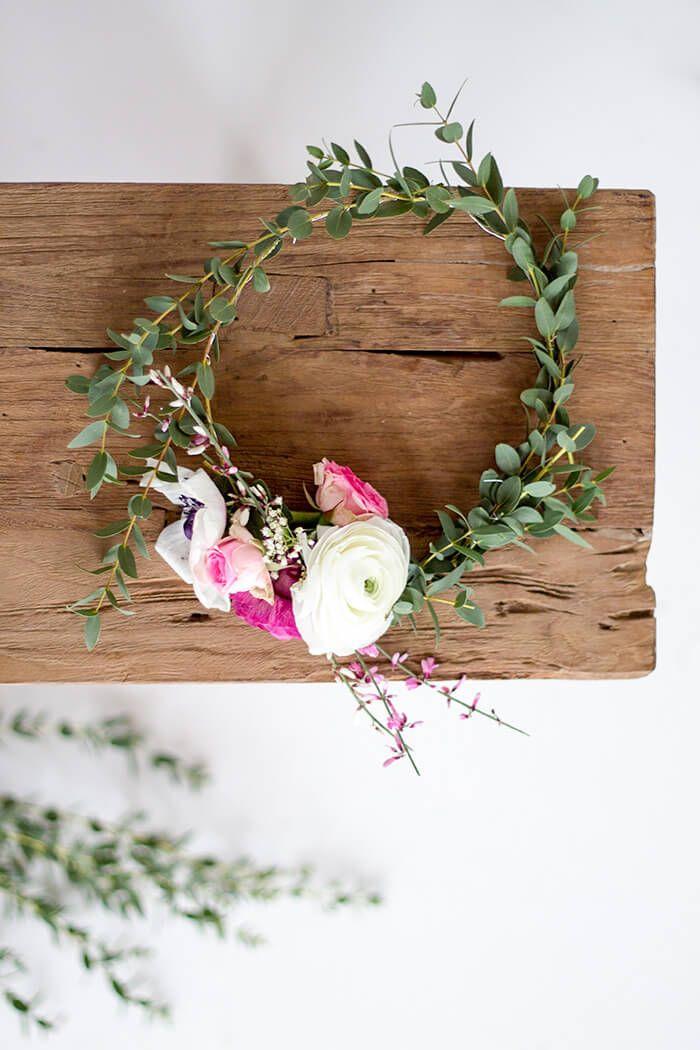 Erstes Hochzeits Diy Blumenkranz Selber Machen Linda Loves