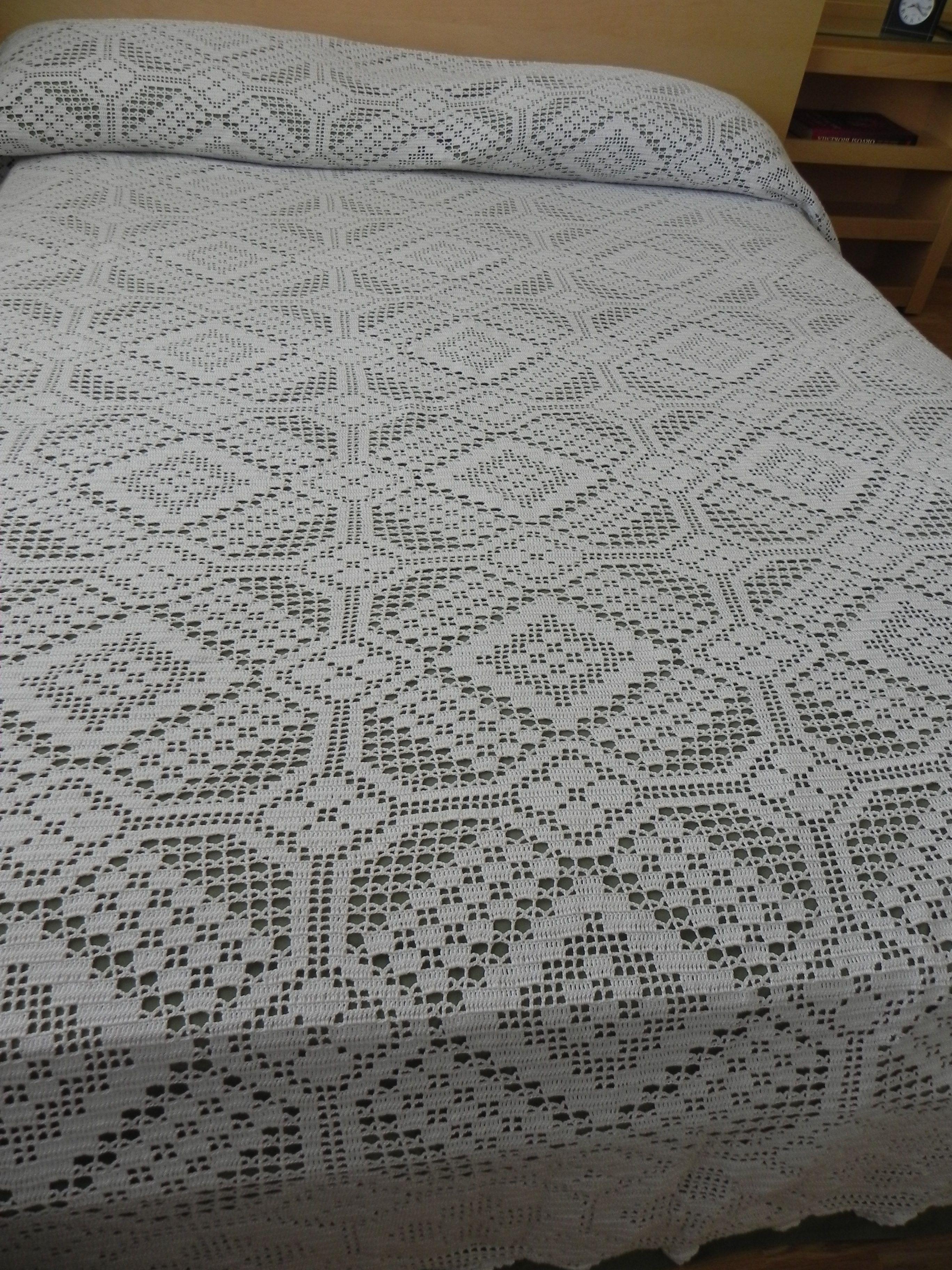 Cubrelechos en crochet - Imagui | colchas | Pinterest
