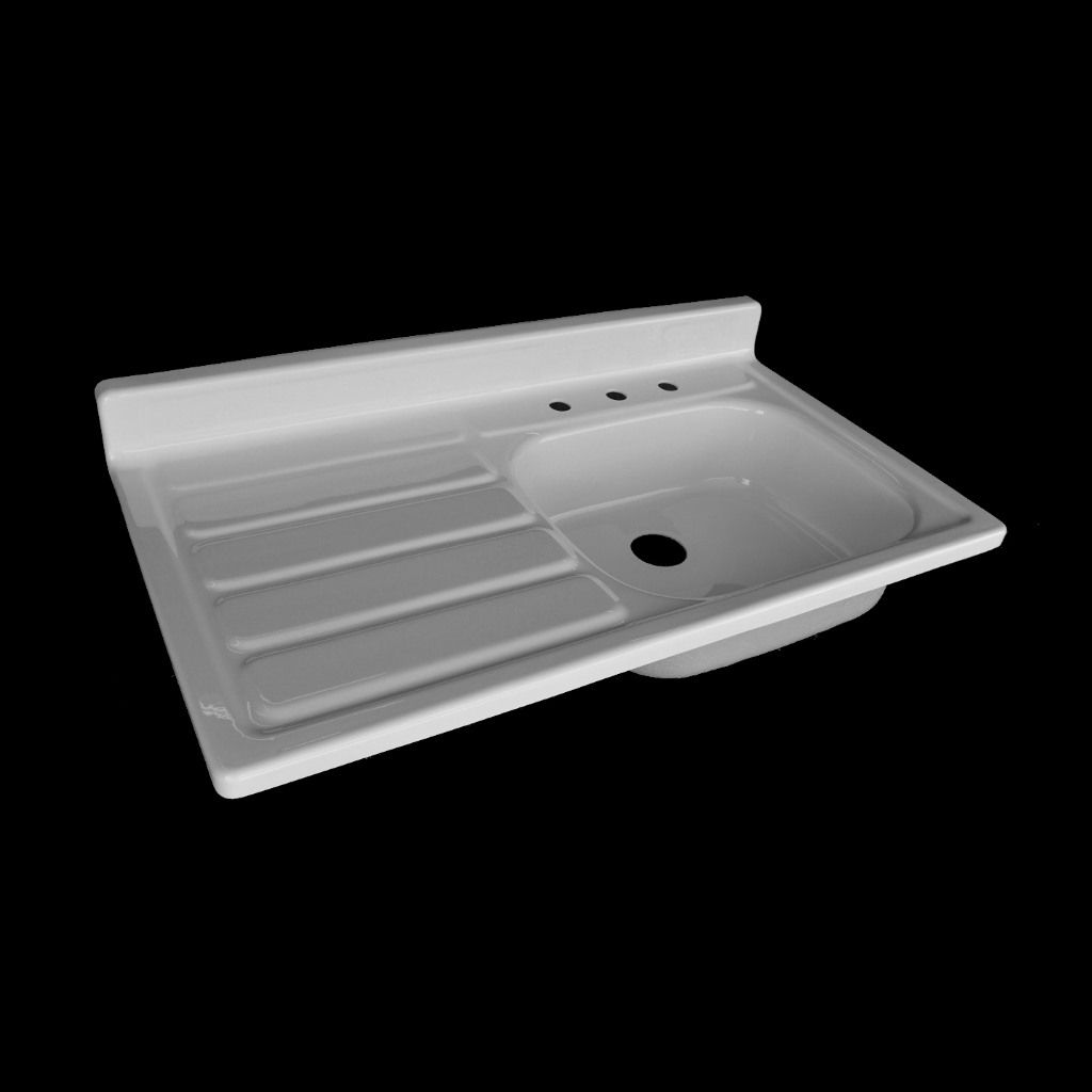 Charming A Charming, Untouched Reproduction Of A Classic 1955 Farmhouse Drainboard  Sink. Handmade From Durable Reinforced Cast Acrylic, This