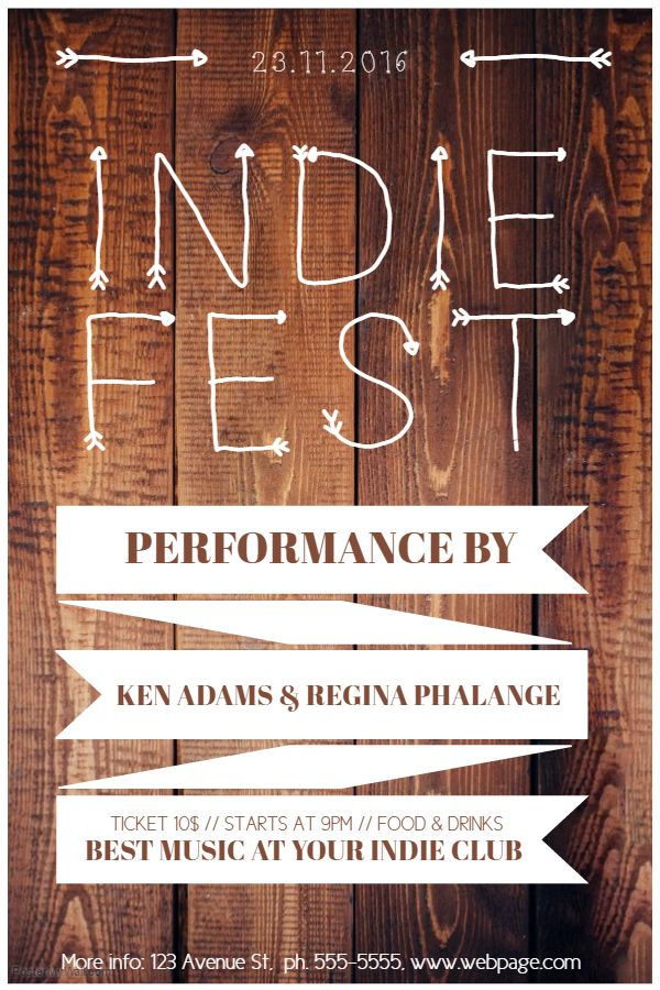 indie fest event flyer template event flyer templates pinterest