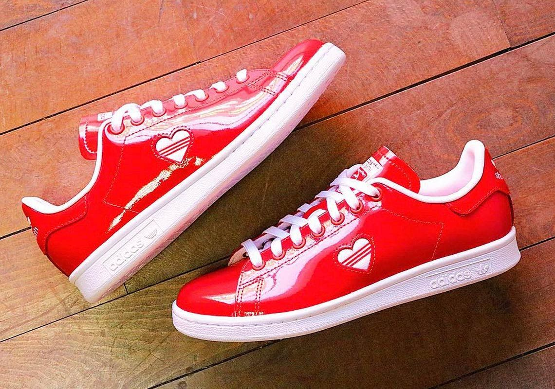 0b1a6a8bab02 This Patent Leather adidas Stan Smith Is Perfect For Valentines Day ...