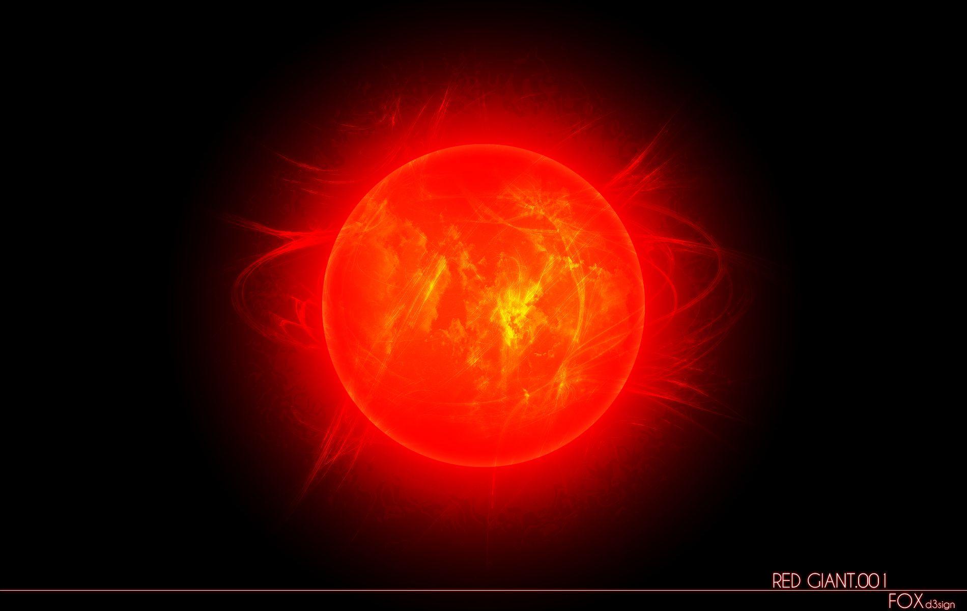 red giant sun - HD1900×1200