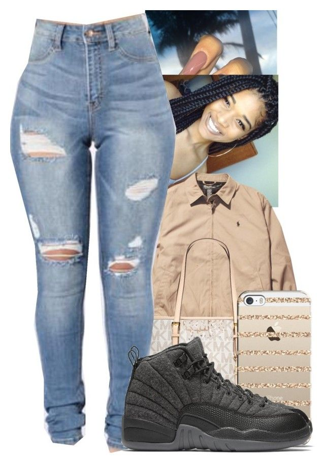 """""""☹️"""" by jawnnsowavyy2 on Polyvore featuring Ralph Lauren, MICHAEL Michael Kors, Casetify and NIKE"""