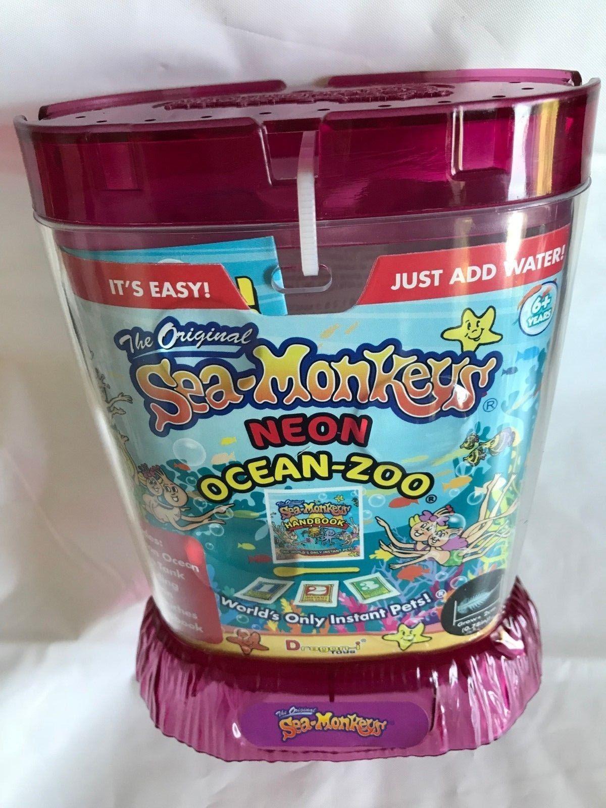 Amazing Live Sea Monkeys Ocean Zoo Marine Aquarium Neon Pink 23232 Sea Monkeys Marine Aquarium Zoo Toys