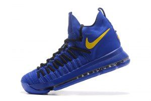 f37b3b5ccf65 Men s Nike Zoom KD 9 Elite Kevin Durant Royal Blue Yellow boys Basketball  Shoes