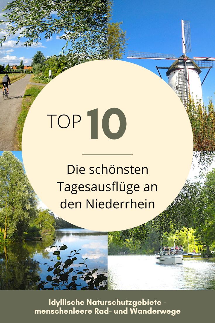 Der Rhein hat der Region den Namen gegeben. Am Flussufer liegen beschauliche Dörfer und pulsierende Städte, kleine Bauernmärkte und imposante Schlösser. Mit seinen weiten, offenen Ebenen ist der Niederrhein ein Paradies für Radfahrer. Hier kommen 10 Orte für eine gelungene Tagestour an den Niederrhein. #deinNRW #niederrhein #tagestouren #ausflüge #wanderlust #radtouren