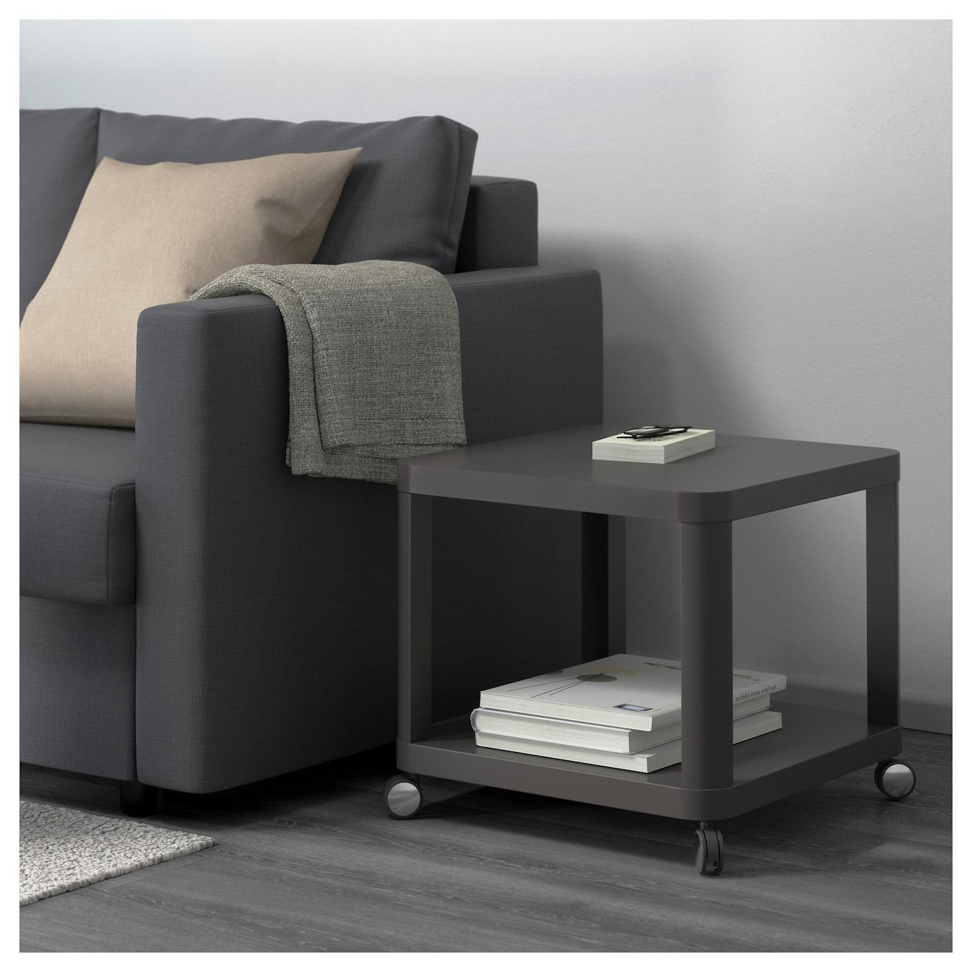 IKEA TINGBY Side table on casters gray Ikea side table