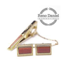 NEWHOT-레노다니엘 신사용 명품 넥타이핀 커프링크 세트 h1mu-RD797712R (정품보장)