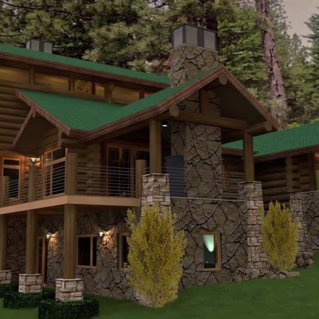Perfect Mountain Log Home Floor Plan Design | 'The