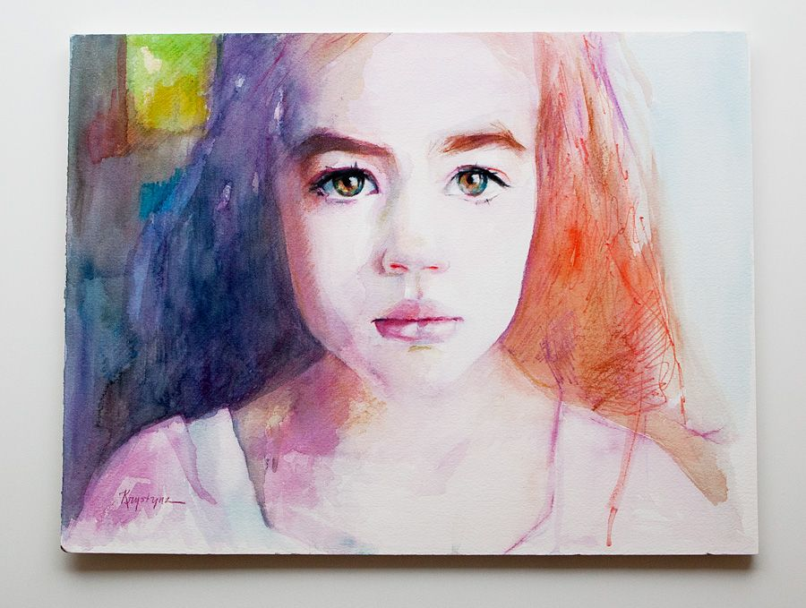 From Heather Armstrong's blog - a portrait of her daughter by artist Kristina Laurendi Havens. I wish I could do things like this.