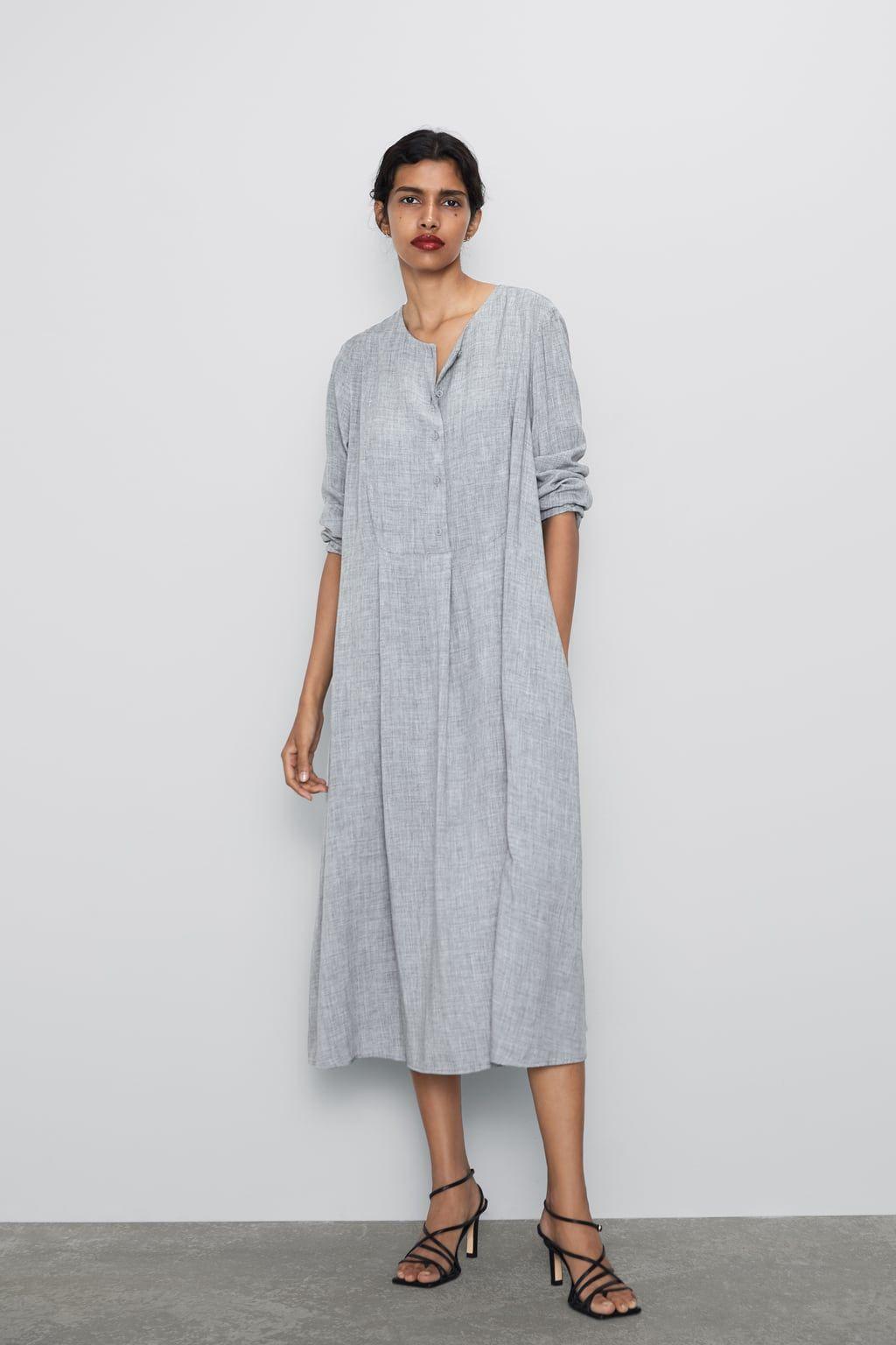 zara - woman - buttoned dress | kleider damen, kleid mit