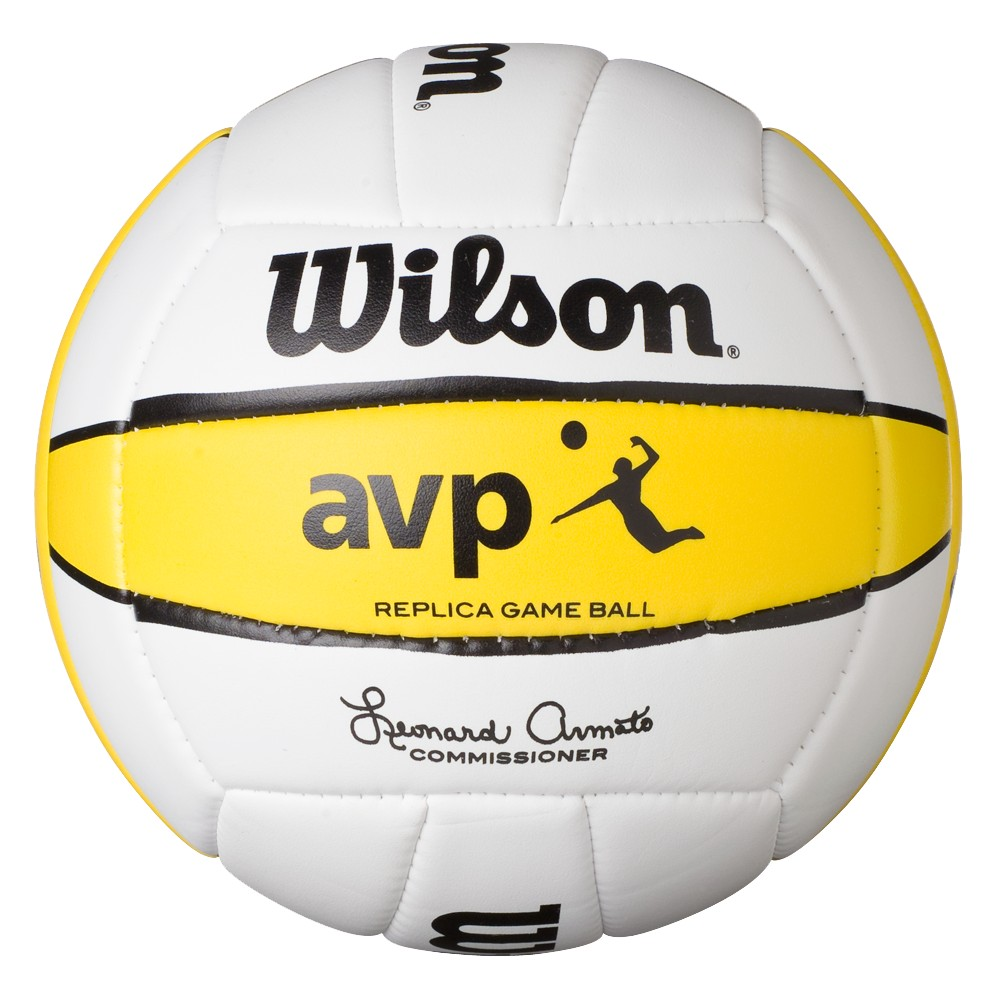 Wilson Avp Replica Beach Game Volleyball Gold White Beach Volleyball Fun Sports Volleyball