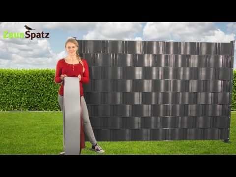 Sichtschutzstreifen für Zaun, Gitterzaun zum Nachrüsten