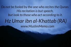 Do we act according to the #Quran? Or just recite it?
