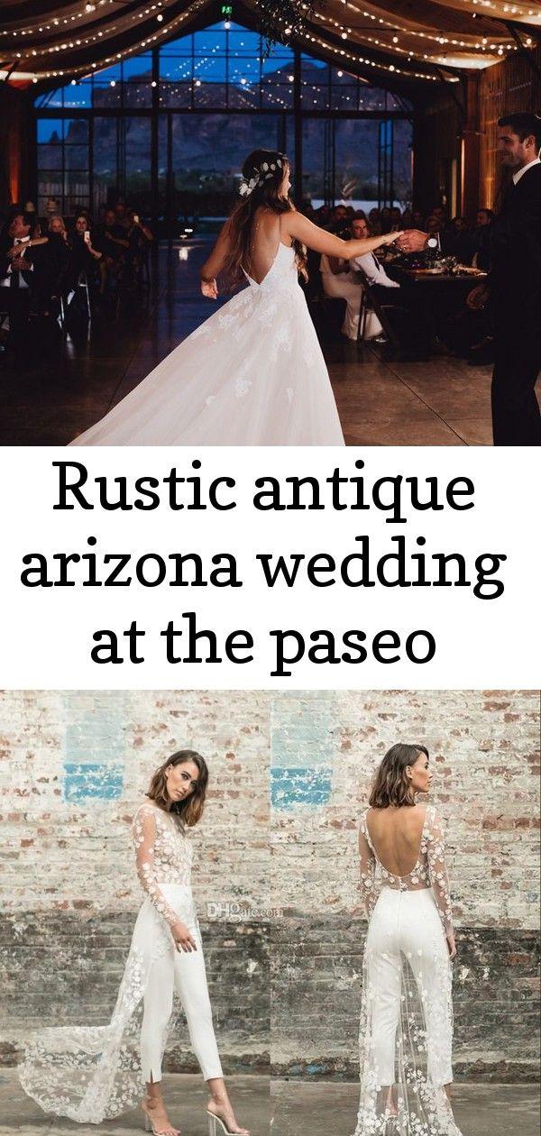Rustiek antiek Arizona huwelijk in paseo