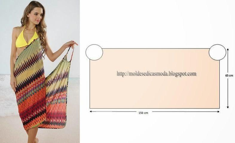 Saida de Praia _ Moldes Moda por Medida | fashionlol | Pinterest ...