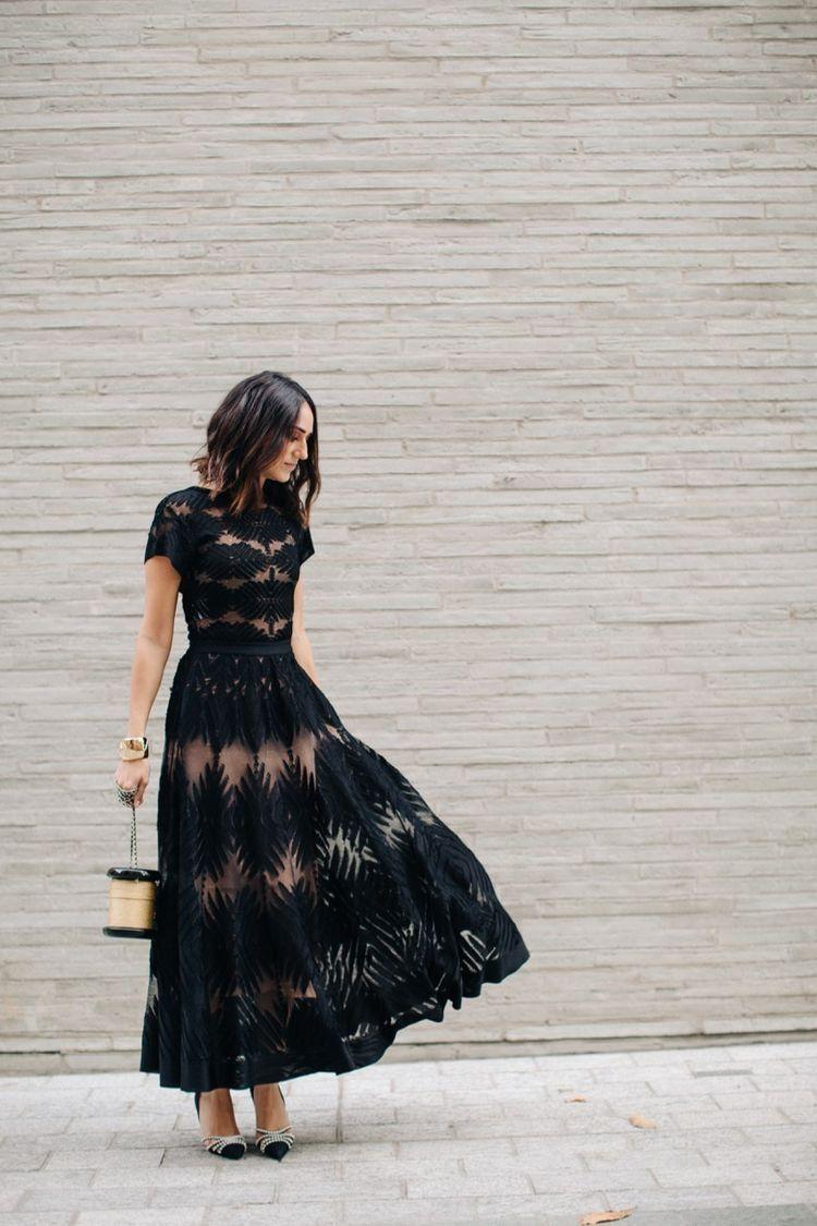 Black Dress Wedding Party Dress Guest Wedding Attire Guest Summer Wedding Outfits [ 1125 x 750 Pixel ]