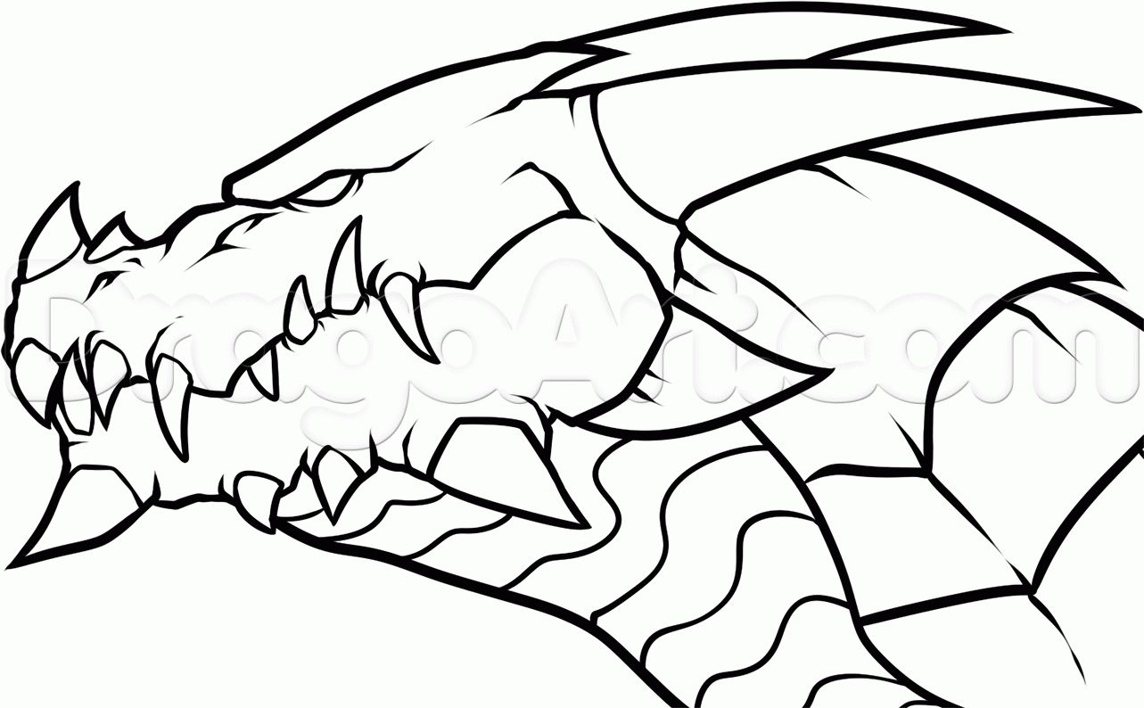 Simple Dragons To Draw How To Draw A Dragon Breathing Fire Easy Easy