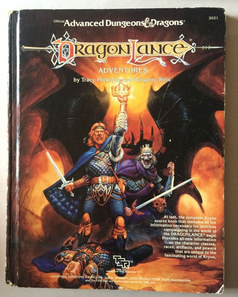 Dragonlance Adventures Hardcover Source Book Ad D 1st Edition 2021