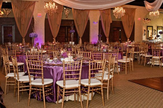 Image Result For Purple And Champagne Wedding Theme Wedding
