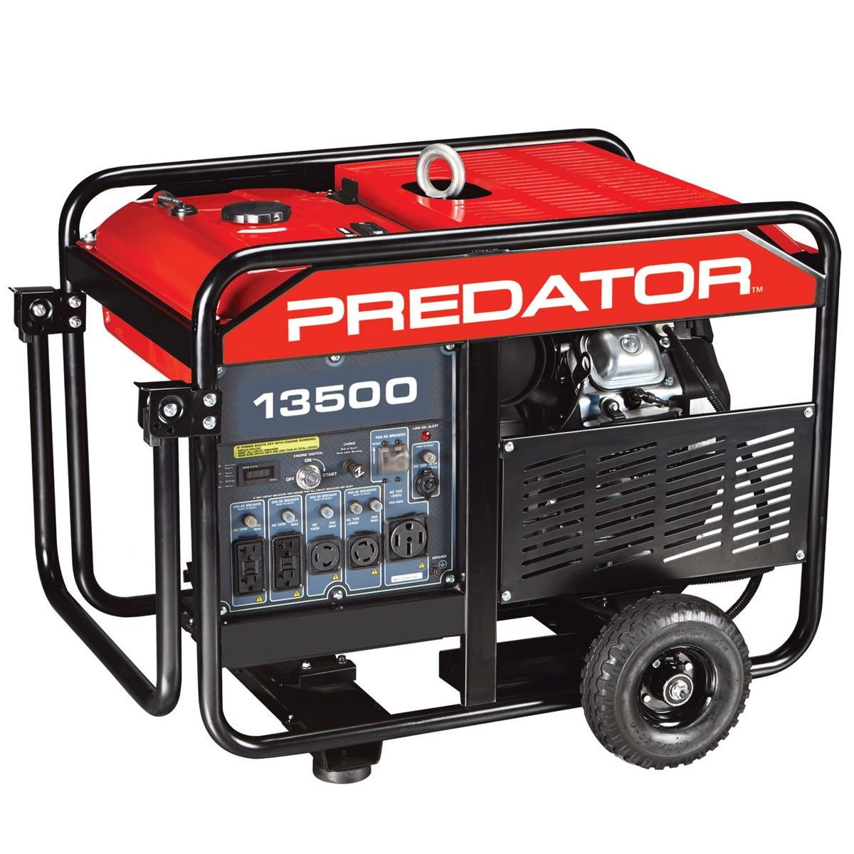 13500 Peak/11000 Running Watts, 22 HP (670cc) Gas Generator