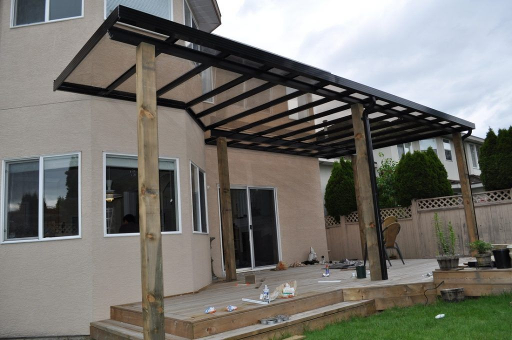 Charmant Metal Patio Covers Mediterranean Style Backyard Design With Free Standing  Patio Cover