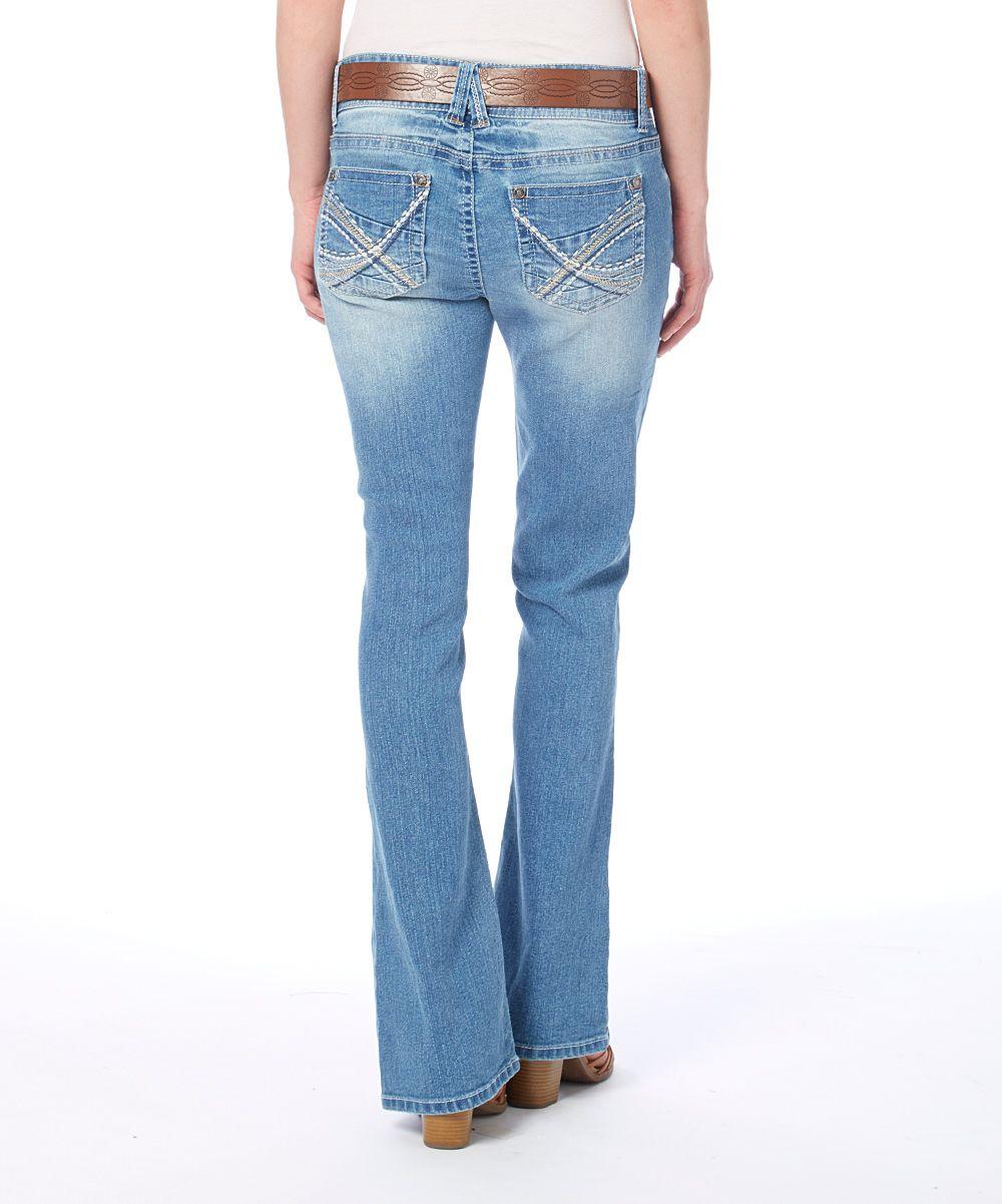 Laura Buckle Belt Bootcut Jeans