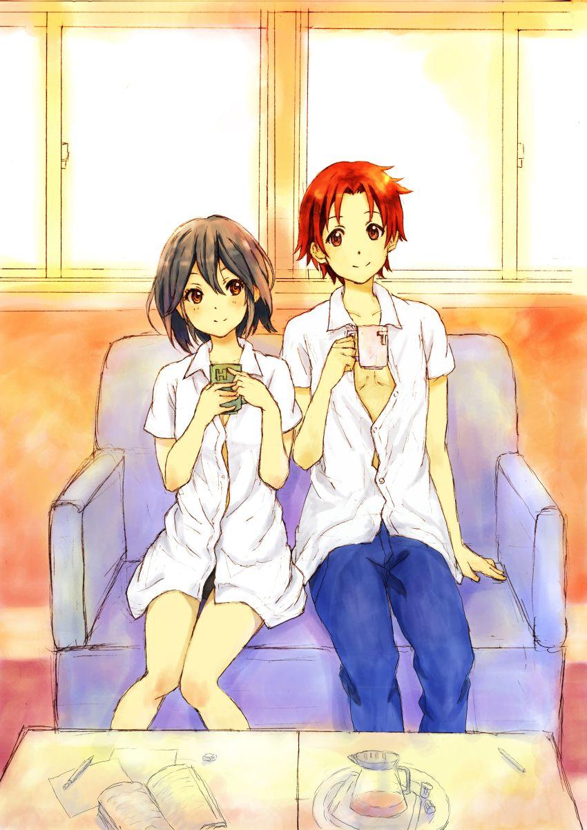Kokoro Connect Inaba And Taichi I Will Go Down With This Ship Kokoro Connect Kokoro Anime