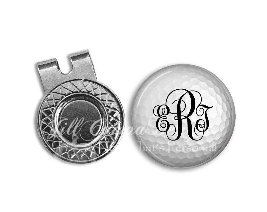 Monogram golf ball marker - Magnetic Golf Ball Marker and hat clip set by  NowThatsPersonal on 42c77cdf0ad9