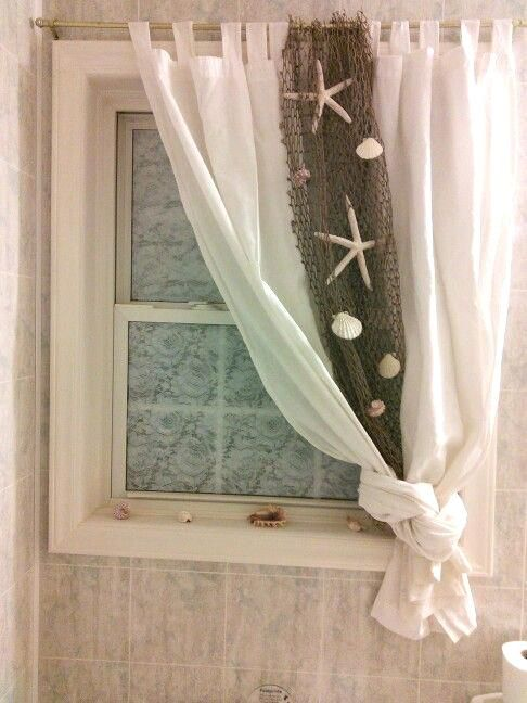 Wasserdichte badezimmer fenster vorh nge innenarchitektur pinterest beach theme bathroom - Badezimmer strand look ...