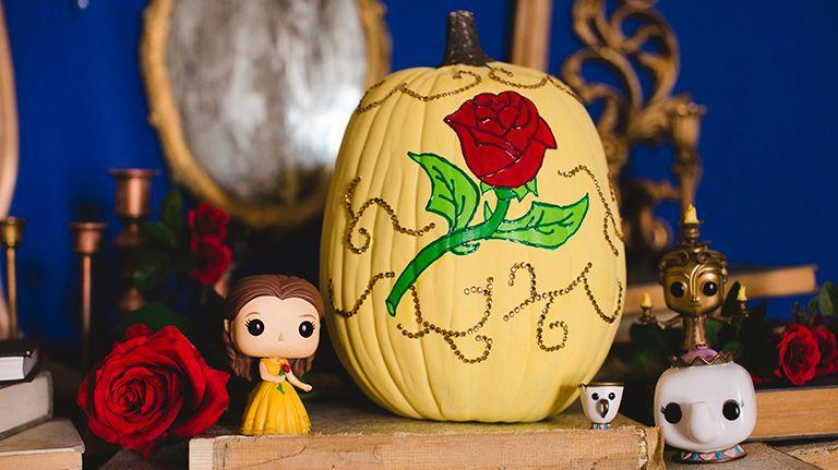 Disney Pumpkin Ideas Belle, Maleficent and Cinderella Disney - halloween pumpkin painting ideas