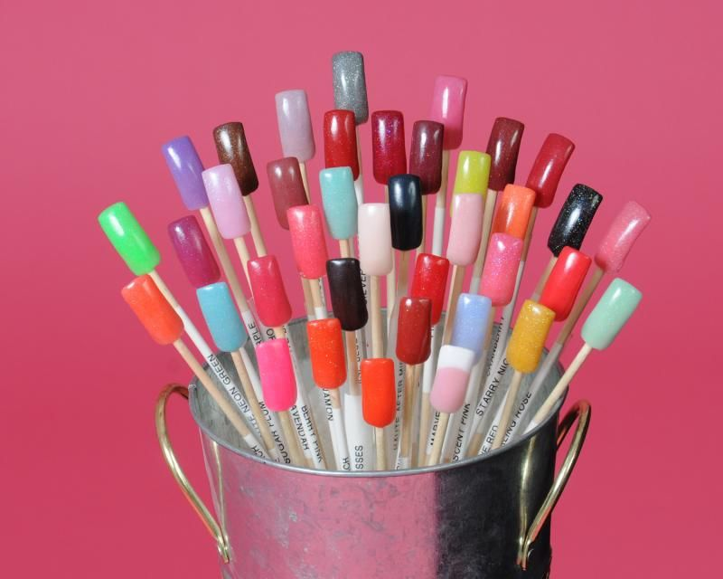 Cute way to display polish colors for my salon (when I open one ...