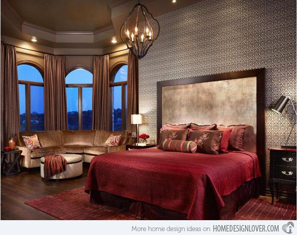 15 Romantic Bedroom Ideas For An Intimate Ambiance Home Design Lover Red Master Bedroom Romantic Bedroom Design Bedroom Design Inspiration The elegant of romantic bedroom