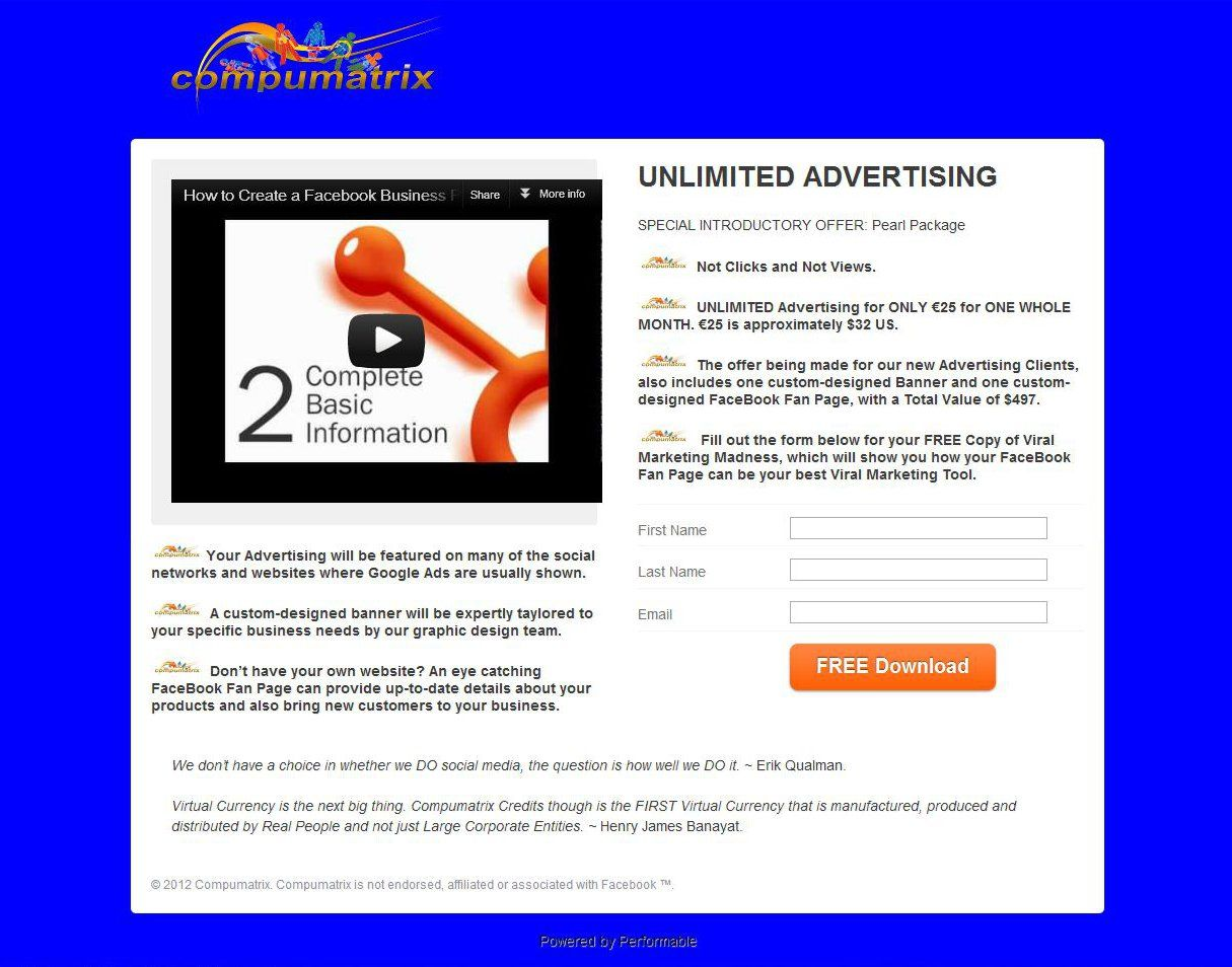 Sample Landing Page Using One Of The Advanced Landing Page Templates - Sample landing page template