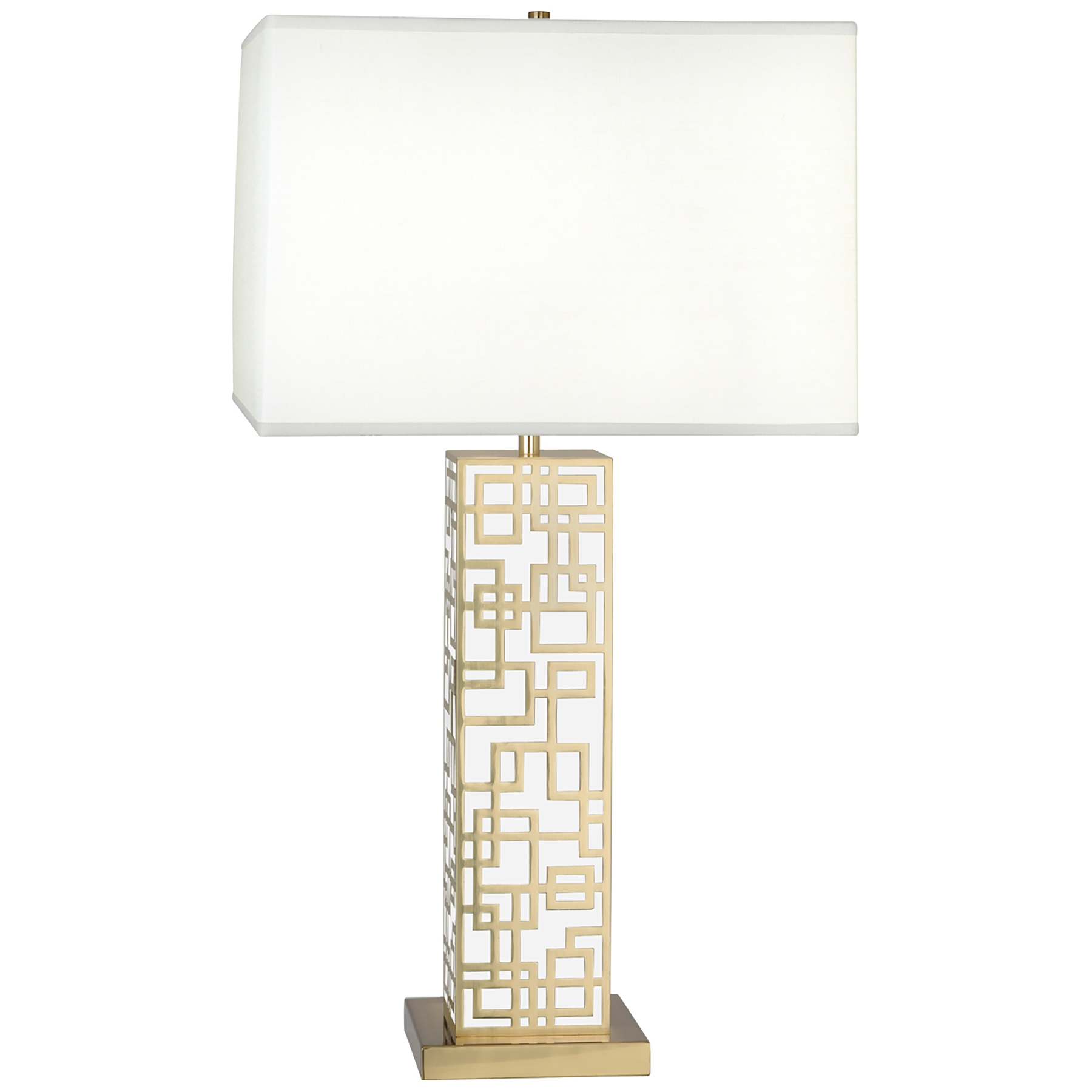 Robert Abbey Lloyd Table Lamp Modern Brass W White Lacquer