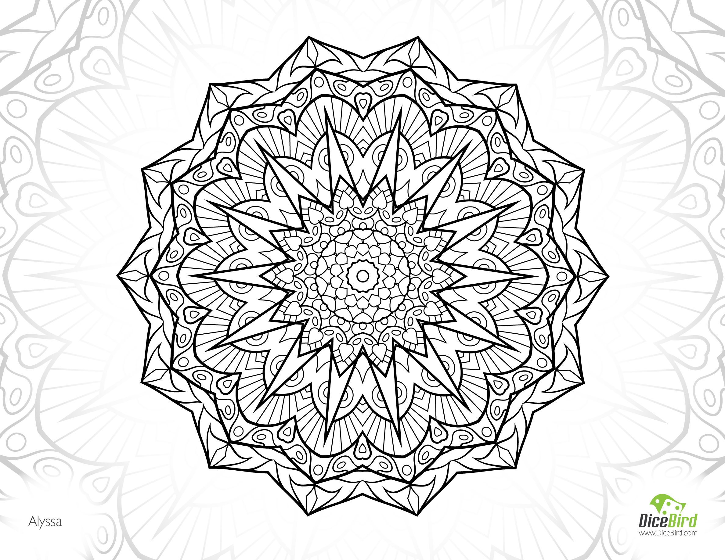 alyssa mandala free colouring pages for adults coloring